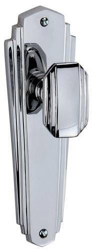 Chrome Art Deco door handle