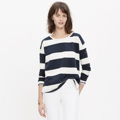 Setlist Pullover Top in Rugby Stripe : tees & more | Madewell