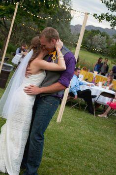 "1st dance to ""500 Miles"" cover by Sleeping at Last  #Coloradowedding #purpleandyellowwedding #diywedding #affordablewedding #firstdancesong"