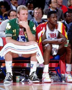 Larry Bird and Dominique Wilkins (Atlanta Hawks)