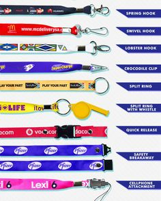 Sublimation Transfer Lanyard Full Colour. Best Branding, your one stop lanyard specialist. Dye Sublimation Transfer Lanyard on white satin tape with full colour transfer image. Full colour lanyard print on one side or two sides. Wide range of fittings. Lanyards & Attachments Croc Clip Swivel Hook Spring Hook 1 Lobster Hook Cell Phone Attachment Ring and Referee Whistle Breakaway Domed Fitting with full col domed sticker and spring hook Branded Lanyards, Referee, White Satin, Tape, Sticker, Branding, Colour, Phone, Spring