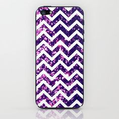 Purple Sparkly Chevron iPhone case