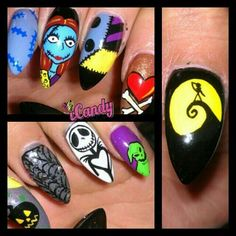 nightmare before christmas nails | Nightmare before Christmas nails