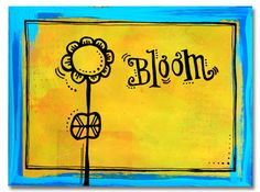 "Handmade postcard ""Bloom"" by Denice of inkstitch"