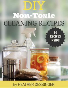 DIY Non-Toxic Cleaning Recipes - 25% Spring Sale - www.ohlardy.com