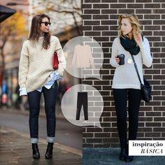 Jeans skinny e malha quentinha, quem não gosta? ❄️ #blusaucrania #calçaportoalegre