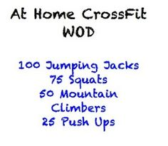 The Wholesome Heart : At Home CrossFit Workouts!.