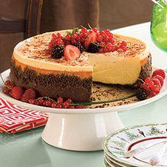 Splurge-Worthy Thanksgiving Desserts | Brandy Alexander Cheesecake | SouthernLiving.com