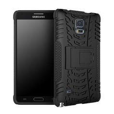 IDOOLS Heavy Duty Impact Hybrid Armor Cover Hard Plastic Case for Samsung Galaxy Note 4 With Kickstand Phone Bags & Cases