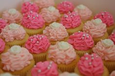 Carnation cupcakes - red frosting would be more accurate.