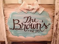 Personalized Canvas Painting with Embellishment by MadebyDesire, $54.00