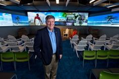 """""""Think of the Cove as a platform for the start-up community in Orange County,"""" says Richard Sudek, executive director for UCI's  Institute for Innovation.  Photo by Steve Zylius/UCI"""