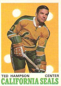 hampson golden seals Oakland California, Vintage California, Hockey Cards, Baseball Cards, Hockey Rules, Hockey Players, Seals, Nhl, Nostalgia