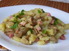 Krumpir njoki s gljivama Czech Recipes, Ethnic Recipes, No Salt Recipes, Gnocchi, Pasta Dishes, Pasta Salad, Potato Salad, Potatoes, Treats