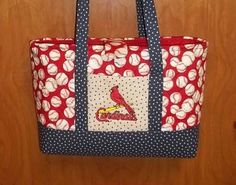 Large St Louis Cardinal Purse/Bag Ships by SewingbyEmma on Etsy, $32.50