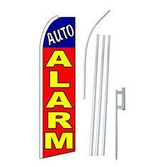 NeoPlex Auto Alarm Swooper Flag and Flagpole Set