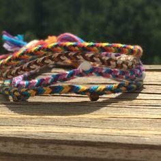 Woven Friendship Bracelet by TheKnittinPearl1 on Etsy