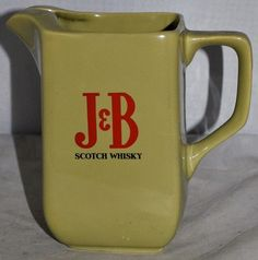 J&B Scotch Whisky Water Jug by WADE pdm England, in Excellent Condition