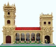 This LEGO creation by Bill Vollbrecht is a building from Balboa Park in San Diego called the El Prado Arcade