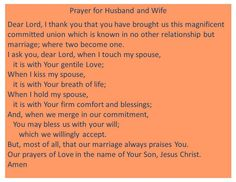 Prayer for husband and wife