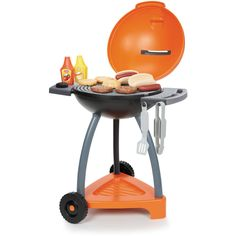 Little Tikes Sizzle And Serve Grill Kitchen Playsets - for sale online Pretend Play Kitchen, Pretend Food, Play Food, Outdoor Barbeque, Backyard Barbeque, Grill Barbecue, Little Tikes, Pool Toys For Kids, Cool Toys For Boys