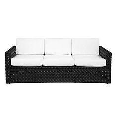 outdoor furniture can be mod (Z Gallerie - Portofino Outdoor Sofa - Black)