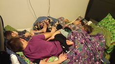 We have 6 beds and my kids still sleep like the grandparents from Charlie and the Chocolate Factory every night.