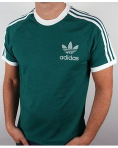 Adidas Originals Retro 3 Stripes T-shirt Emerald Green Adidas Originals, Adidas Retro, Pretty Green, Ringer Tee, Cool Tees, Mens Tees, Emerald Green, My Style, Stripes