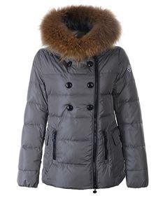 Moncler Herisson Fashion Dames Jassen Short Gray verkoop