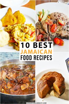 Traditional Jamaican food is very tasty, from jerk chicken to ackee and saltfish. These are the 10 best Jamaican food recipes that you should try Jamaican Recipes, Jamaican Dishes, Great Recipes, Easy Recipes, Healthy Protein Snacks, Healthy Shakes, Healthy Breakfasts, High Protein, Eating Healthy