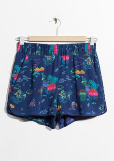 & Other Stories image 1 of Mini Shorts in Ni Hao Print