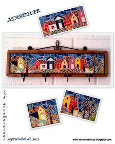 Resultado de imagen para percheros con mosaicos