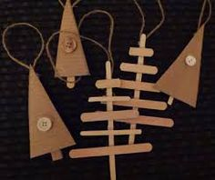upcycled christmas  -popsicle stick and cardboard