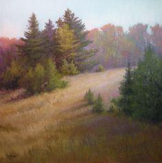"©2012 Paula Ann Ford, Maple Ridge, Soft Pastels on Art Spectrum Colorfix, 14""x14"" #Adirondack"