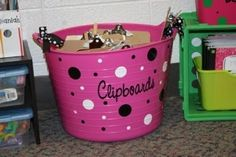 I need a spot to store  my clipboards.  This looks good! from The sweet life in 3rd grade