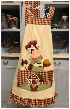 Train Of Thought, Raggedy Ann And Andy, Vintage Kitchen, Embellishments, Going Out, Apron, Stuffed Bear, Acheive, Cows