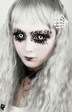 Phantasee White Black Sclera Lenses are truly opaque which genuinely mask the original eye color beneath. They are good for casting terrific looks.