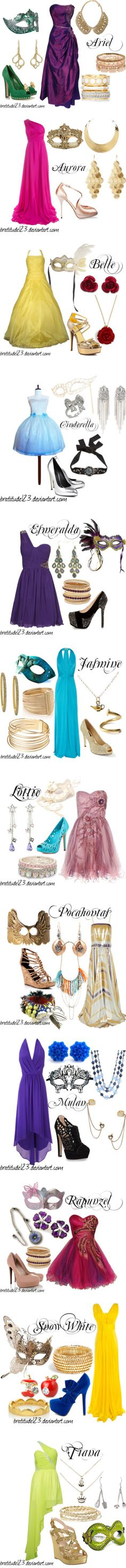 """Disney Girls Masquerade"" by djerap ❤ liked on Polyvore"