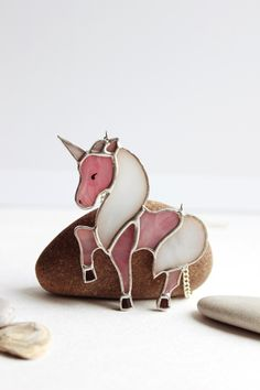 Kalidoscop Unicorn Stained Glass Ornament