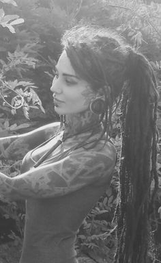 JAKJAK #dreads #tattoo #girl #modification #dbz
