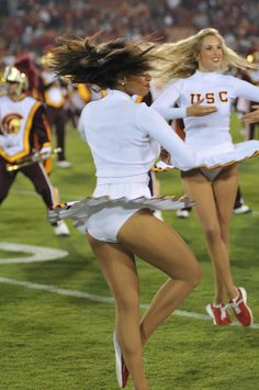 Cheerleader lets her squad mate lick her panties tmb