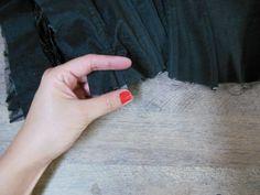 Aplicação das barbatanas no corset: como fazer?