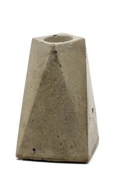 This cement candle holder is just the right amount of modern. Love it!