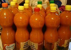 Sárgabarack szörp (rostos üdítő) | Márk Zsuzsanna receptje - Cookpad receptek Hot Sauce Bottles, Food, Essen, Meals, Yemek, Eten
