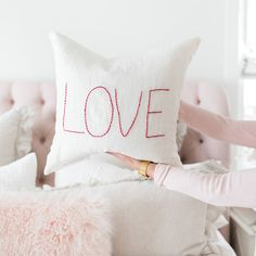 We have the CUTEST DIY for you today!! This is perfect for Valentine's Day, but it is so timeless that we will probably have it out year-round! This easy DIY stitched love pillow is a great…