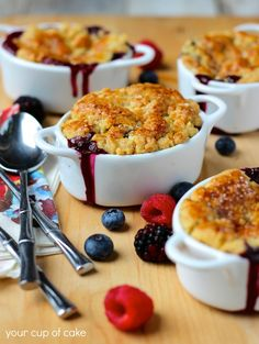 Blueberry Cobbler. The easiest cobbler you'll ever make