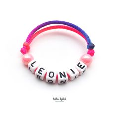 Bracelet LEONIE Message Logo, Messages, Pandora Charms, Baby, Bracelets, Jewelry, Bracelet Patterns, Acrylic Beads, Acrylic Letters