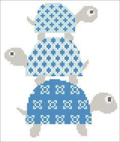 BOGO FREE! Pdf - 3 TURTLES - cross stitch pdf Pattern - pdf pattern instant download #104 by Rainbowstitchcross on Etsy