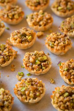 Baklava bites - yes and YES! You get the classic nutty Greek baklava in mini hand holdable form (plus the addition of chocolate and whipped cream because Lebanese Desserts, Greek Desserts, Lebanese Recipes, Turkish Recipes, Greek Recipes, Persian Recipes, Shot Glass Desserts, Arabic Dessert, Arabic Sweets