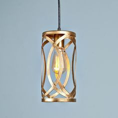 Gold Oval Lattice Pendant Light $119 Shades of Light - MAYBE FOR BAR AREA?